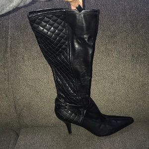 Guess stiletto leather boots with heel